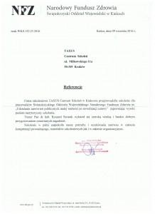 NFZ Referencje